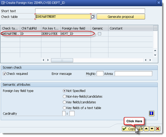 How to create a Foreign Key in SAP table? - SAPHub