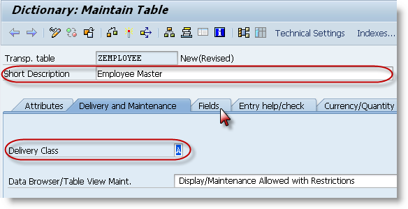 How to create a SAP table? - SAPHub